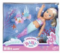Бебі Борн - Інтерактивна лялька Сестричка русалочка 824344