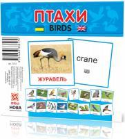 Картки міні Птахи (110х110 мм) (Укр/Англ) Зірка