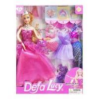 "Лялька ""Defa Lucy"", з нарядами, в рожевому DEFA (8269)"