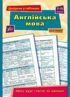 Довідник у таблицях. Англійська мова. 7-11 класи