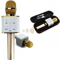 Бездротовий мікрофон Star Voice Q9 PRO для караоке з вбудованим динаміком золотий