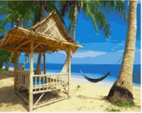 Картина за номерами Brushme 40х50 Райський пляж (GX23151)