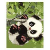 """Набір для розпису по номерах SV-0081 """"Малесенька панда на гілці"""", розміром 30х40 см"""