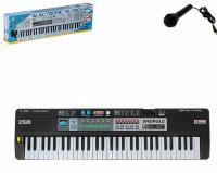 """Дитячий синтезатор """"Кантрі"""" з мікрофоном, чорний (звук) MQ-6109"""