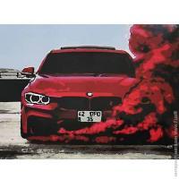 """Картина за номерами """"Ефектний червоний"""" (RB-0366) 40*50"""