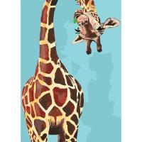 Картина по номерам - Веселий жираф 35*50 (КНО4061)  35*50см