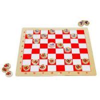 Настільна гра Шашки Миша-кіт Lam Toys 25 деталей