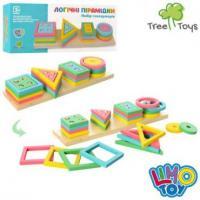 """Дерев'яна іграшка-сортер """"Логічні пірамідки"""", LimoToy, MD 2066"""