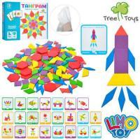 """Дерев'яна іграшка """"Танграм"""" Limo Toys MD 2239"""