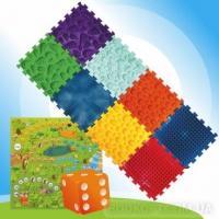 Масажний килимок Мікс Пазли 8 елементів з грою Лісові пригоди Orte