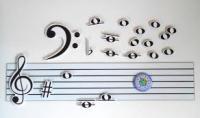 Магнітний нотний стан і ноти