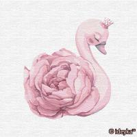 Картина по номерам - Принцеса лебідь (КНО2358) 30*30см