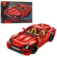 Конструктор Technic Decool 33007 Червоний спорткар Ferrari, 1441 деталей