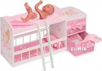 Дерев'яне ліжечко для лялечок двійні De Cuevas 54323
