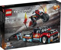 Конструктор LEGO Technic Каскадерська вантажівка й мотоцикл 610 деталей (42106)