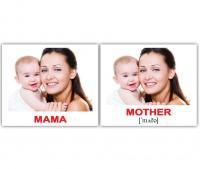 Картки Домана україно-англійські «Сім'я/Family»
