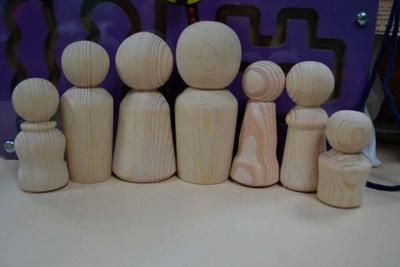 Набір дерев'яних фігурок Сім'я