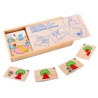 Гра доміно Черговість дій Lam Toys 28 деталей