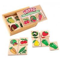 """Настільна гра лото Овочі, фрукти, ягоди """"Lam Toys 30 деталей"""