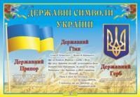 Плакат «Державні символи України»