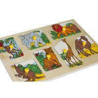 Рамка-вкладка Екзотичні тварини Lam Toys 7 деталей