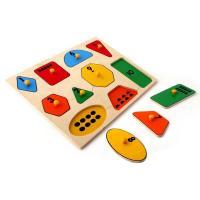 Рамка-вкладка Геометричні фігури математика Lam Toys 10 деталей