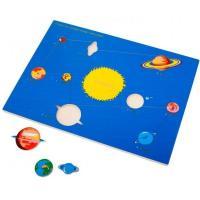 Рамка-вкладка Монтессорі з дерева Планети Lam Toys 5027