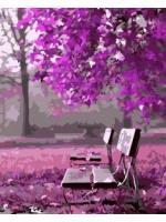 Картина по номерах  Квітучий парк 40х50 (ВК1043)
