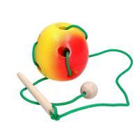 """Розвиваюча іграшка К144. Шнурівка """"Яблуко"""""""